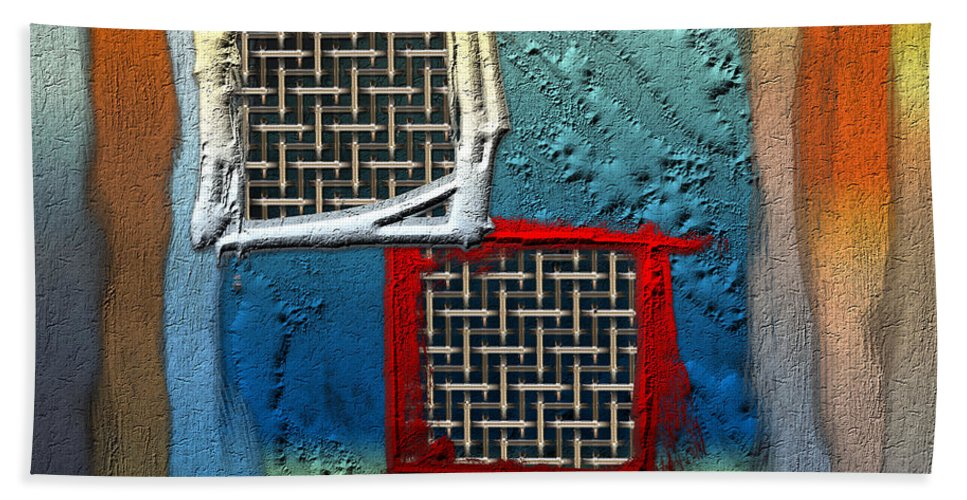 'abstracts Plus' Collection By Serge Averbukh Bath Towel featuring the photograph Obstructed Ocean View by Serge Averbukh