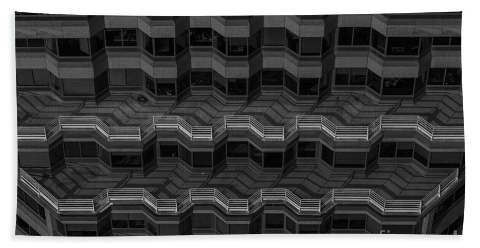 Pacific Northwest Bath Sheet featuring the photograph Office Building Abstract by Jim Corwin