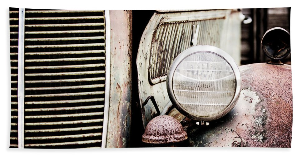 Ford Hand Towel featuring the photograph Old Farm Ford by Scott Pellegrin