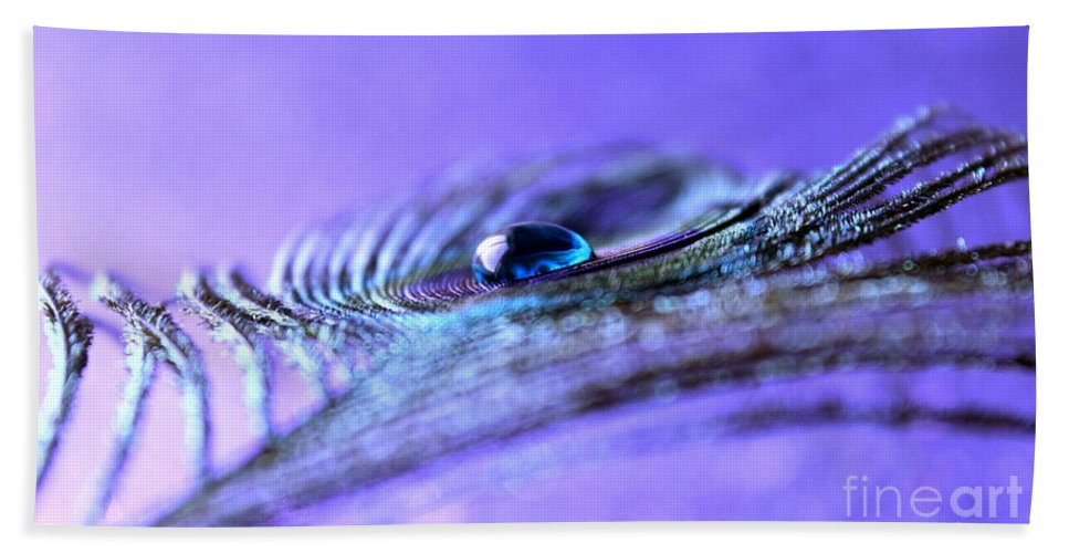 Peacock Feather Hand Towel featuring the photograph Only In Dreams by Krissy Katsimbras