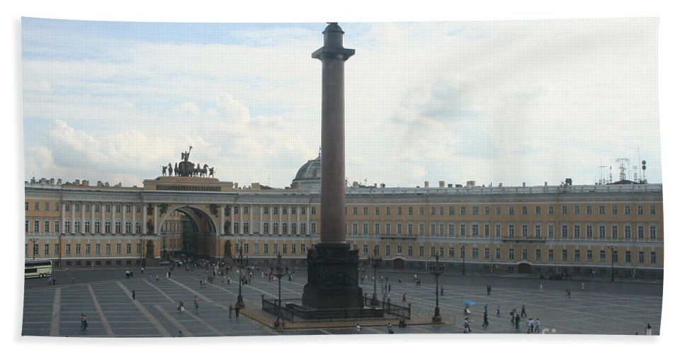 Palace Bath Sheet featuring the photograph Palace Place - St. Petersburg by Christiane Schulze Art And Photography