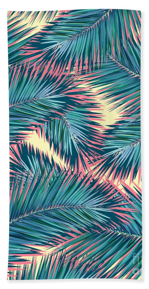 Palm Trees Bath Towel featuring the digital art Hello Summer by Mark Ashkenazi