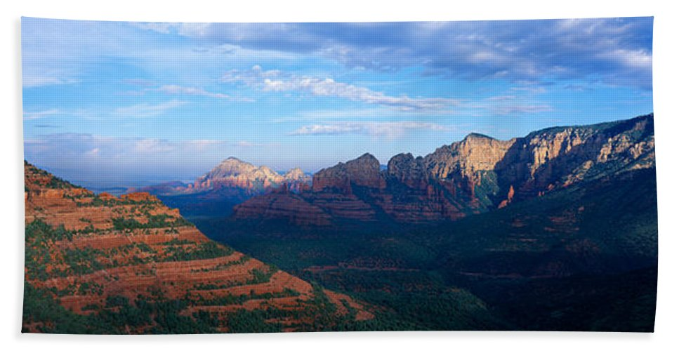 Photography Bath Sheet featuring the photograph Panoramic View, Sedona, Arizona by Panoramic Images