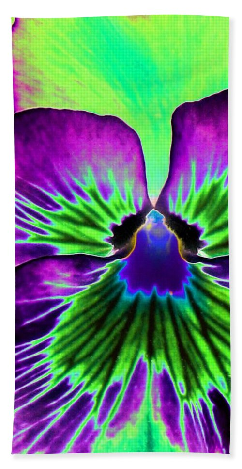 Pansy Hand Towel featuring the photograph Pansy Power 84 by Pamela Critchlow