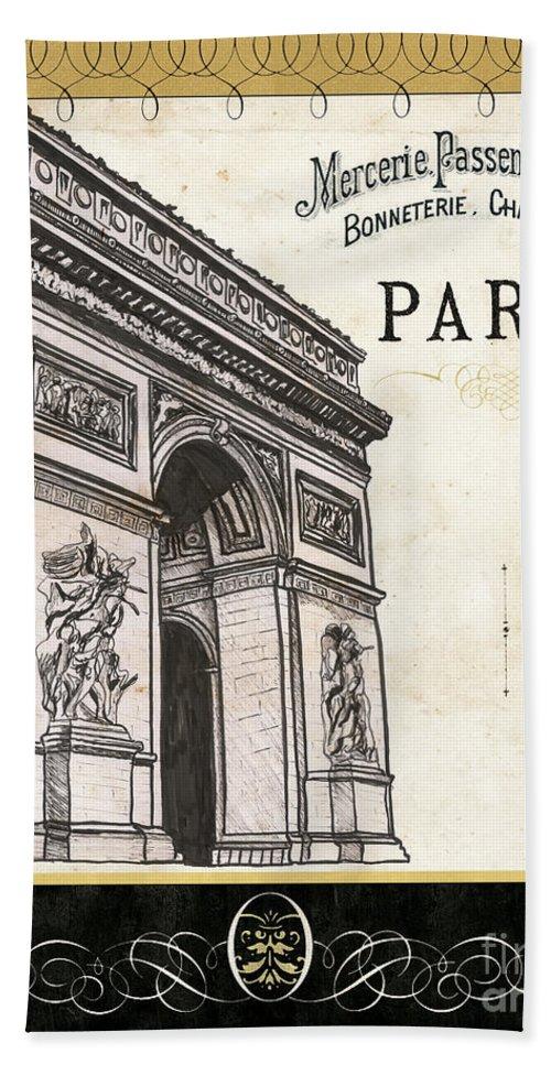 Paris Hand Towel featuring the painting Paris Ooh La La 2 by Debbie DeWitt