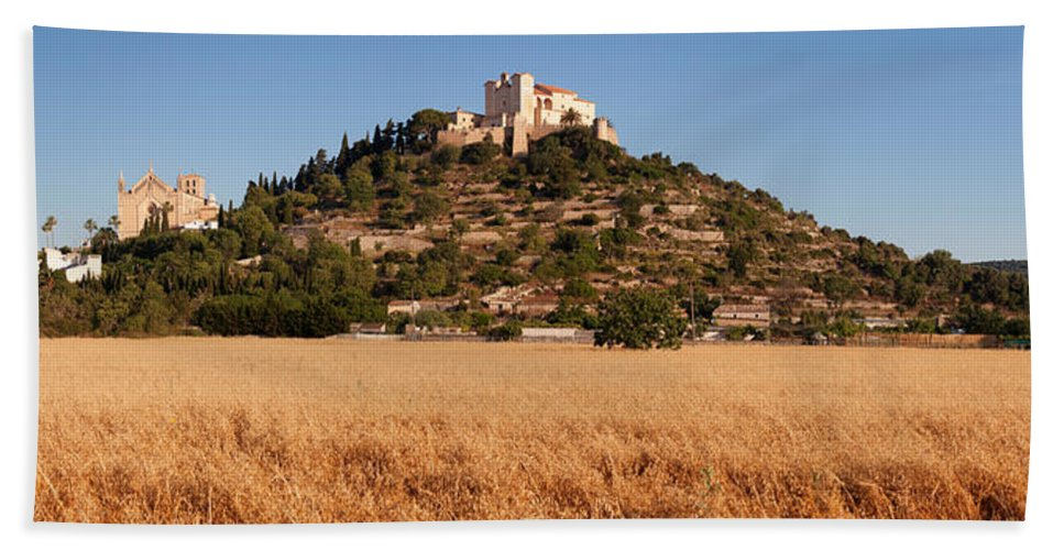 Photography Bath Sheet featuring the photograph Parish Church Of Transfiguracio Del by Panoramic Images