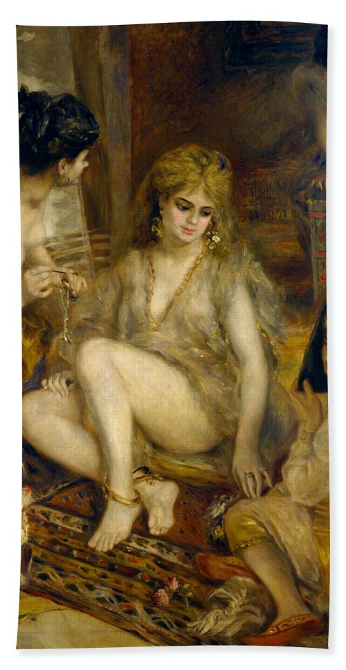 Europe Hand Towel featuring the painting Parisiennes In Algerian Costume Or Harem by Pierre-Auguste Renoir
