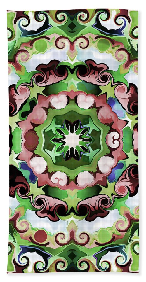 Mandala Art Hand Towel featuring the painting Passion by Jeelan Clark