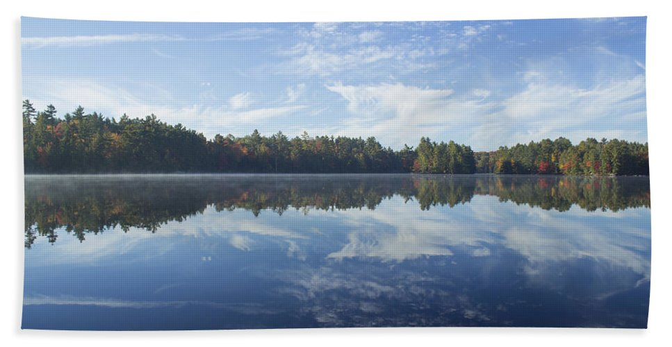 Lake Hand Towel featuring the photograph Pauper Lake Reflections by Spencer Bush