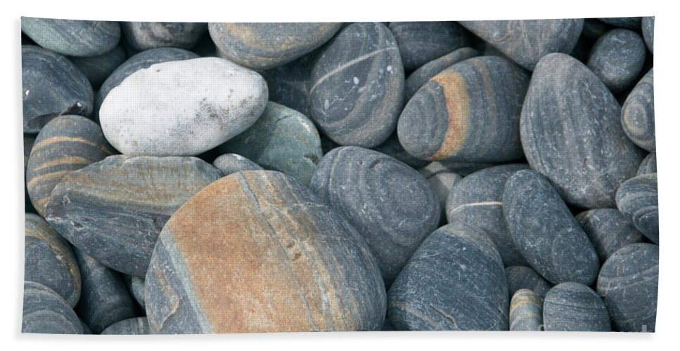 Pebble Bath Sheet featuring the photograph Pebbles by American School