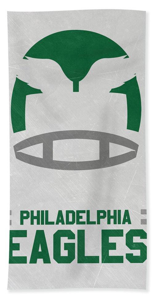 Eagles Bath Towel featuring the mixed media Philadelphia Eagles Vintage Art by Joe Hamilton