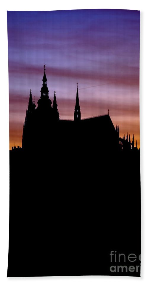 Hradcany Hand Towel featuring the photograph Prague Castle by Michal Boubin