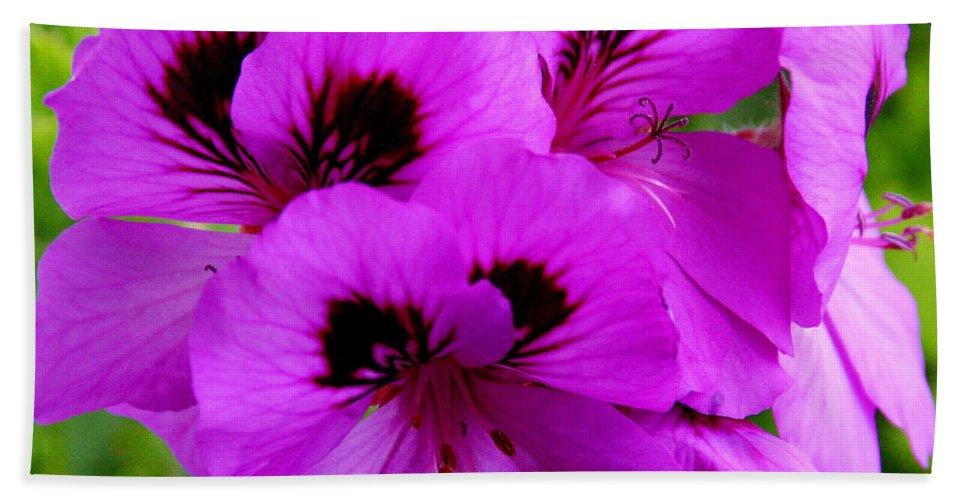 Purple Flowers Bath Sheet featuring the photograph Purple Flowers by Anthony Jones