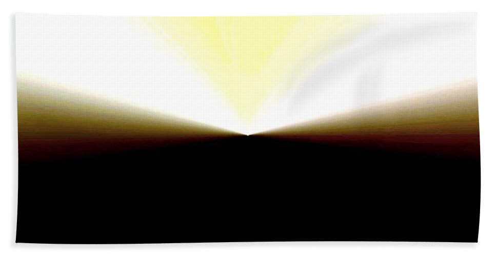 Abstract Bath Sheet featuring the digital art Radiation by Will Borden