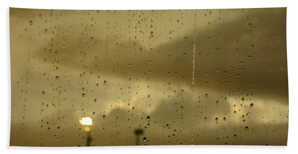 Rain Hand Towel featuring the photograph Rainy Days And Mondays by Ellen Cannon