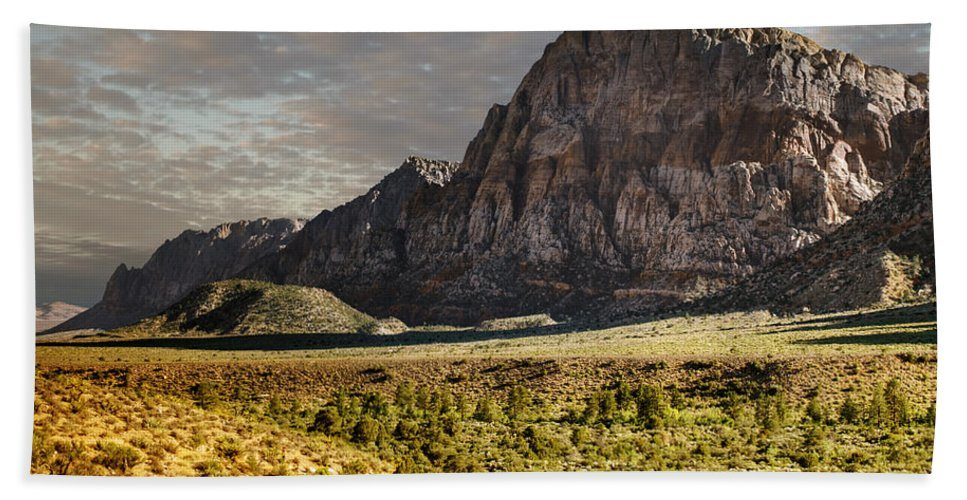 Red Hand Towel featuring the photograph Red Rock Canyon by Ricky Barnard