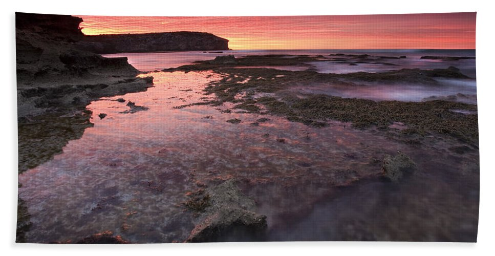 Sunrise Hand Towel featuring the photograph Red Sky At Morning by Mike Dawson