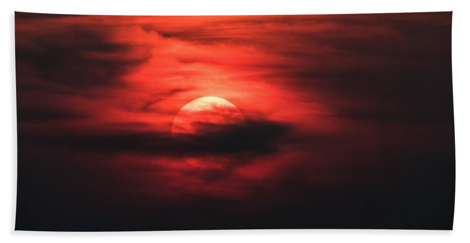 Vivid Sunset Hand Towel featuring the photograph Red Swirl by Ronald Raymond