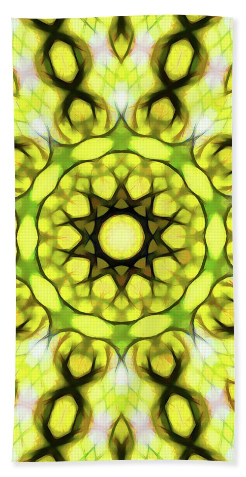 Mandala Art Hand Towel featuring the painting Religion by Jeelan Clark