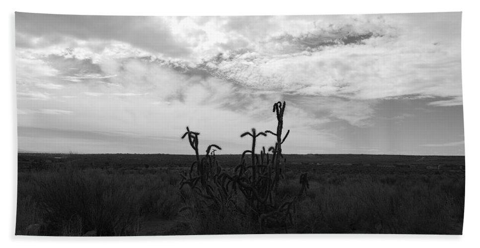 Black And White Bath Sheet featuring the photograph Rio Rancho by Rob Hans