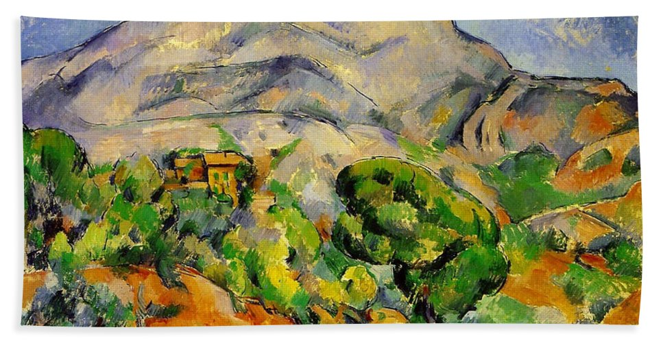 Country Hand Towel featuring the painting Road To The Montagne Sainte-victoire by Paul Cezanne