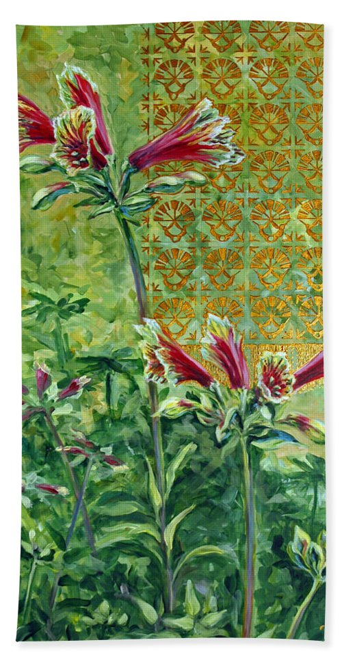 Acrylic Bath Sheet featuring the painting Roadside Discovery by Suzanne McKee