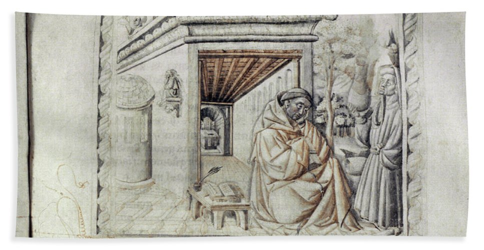 13th Century Bath Sheet featuring the photograph Roger Bacon (1214?-1294) by Granger