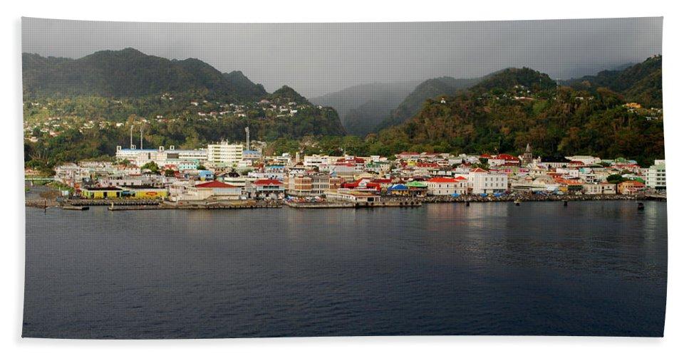 Island Paradise Bath Sheet featuring the photograph Roseau Dominica by Gary Wonning