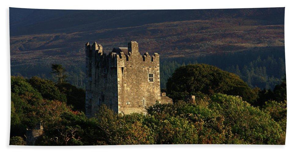 Castle Hand Towel featuring the photograph Ross Castle, Killarney National Park 1 by Aidan Moran