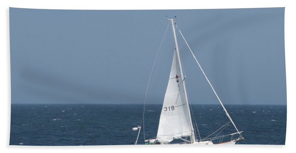 Photography Bath Sheet featuring the photograph Sailing by Steven Natanson
