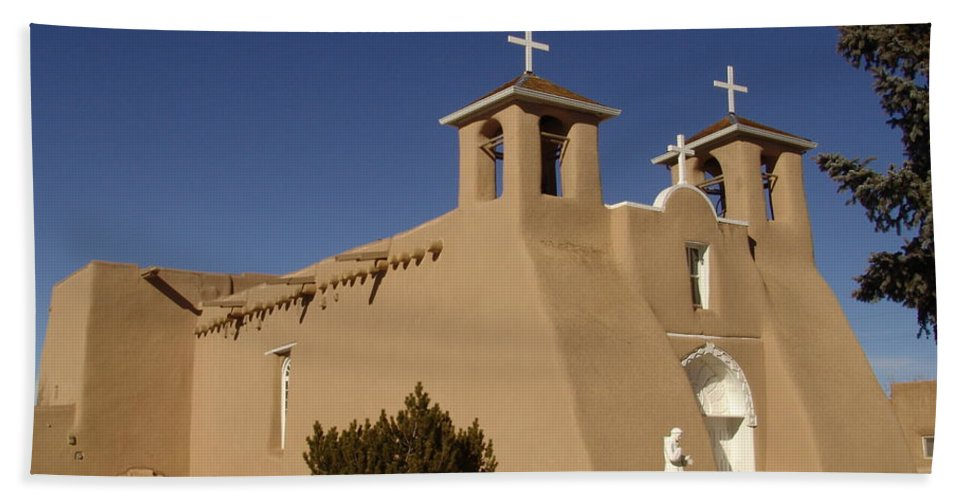 Church Hand Towel featuring the photograph San Francisco De Asis Mission Church by Carol Milisen