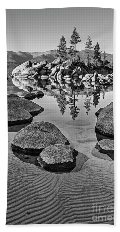 Sand Harbor Bath Sheet featuring the photograph Sand Harbor Ripples by Jamie Pham