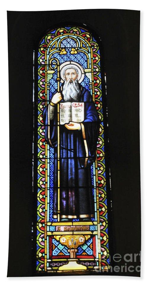 Religious Hand Towel featuring the photograph Santa Maria De Montserrat Abbey by Shay Levy
