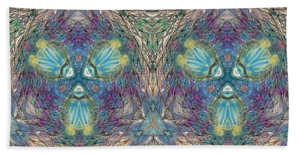 Acrylic Bath Sheet featuring the mixed media Seascape I by Maria Watt