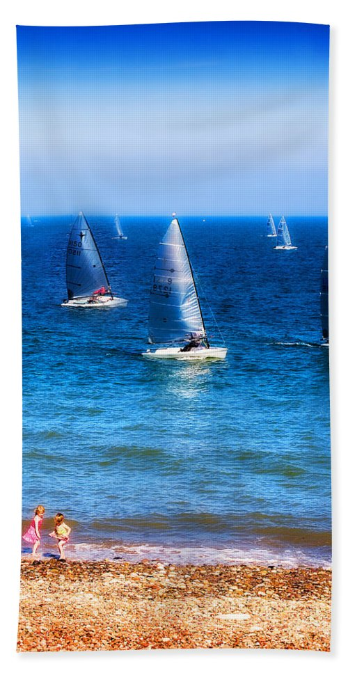 Sea Hand Towel featuring the photograph Seaside Fun by Mal Bray