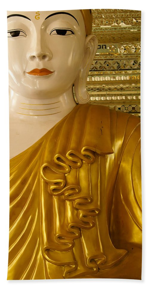 Buddha Hand Towel featuring the photograph Serenity by Michele Burgess