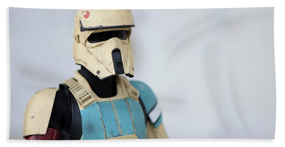 Star Wars Hand Towel featuring the photograph Shoretrooper by Gregory Cook