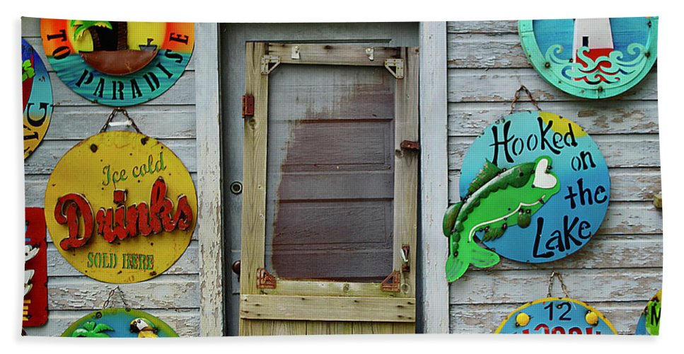 Door Bath Sheet featuring the photograph Signs Of Time by Randy Pollard
