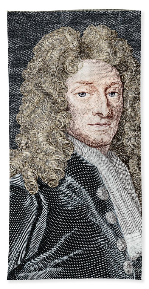 Historic Hand Towel featuring the photograph Sir Christopher Wren, Architect by Science Source