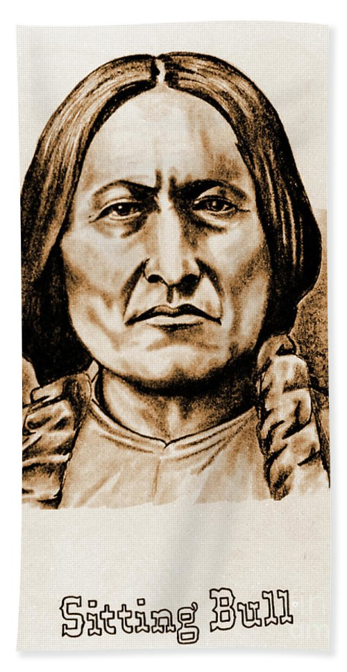 American Hand Towel featuring the photograph Sitting Bull by Gary Wonning