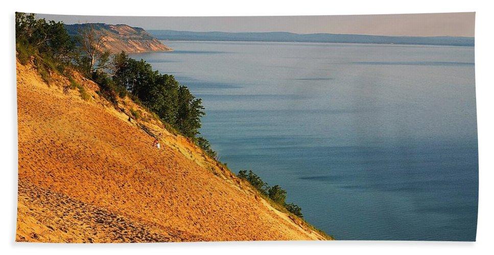 Sand Hand Towel featuring the photograph Sleeping Bear Dunes by Randy Pollard