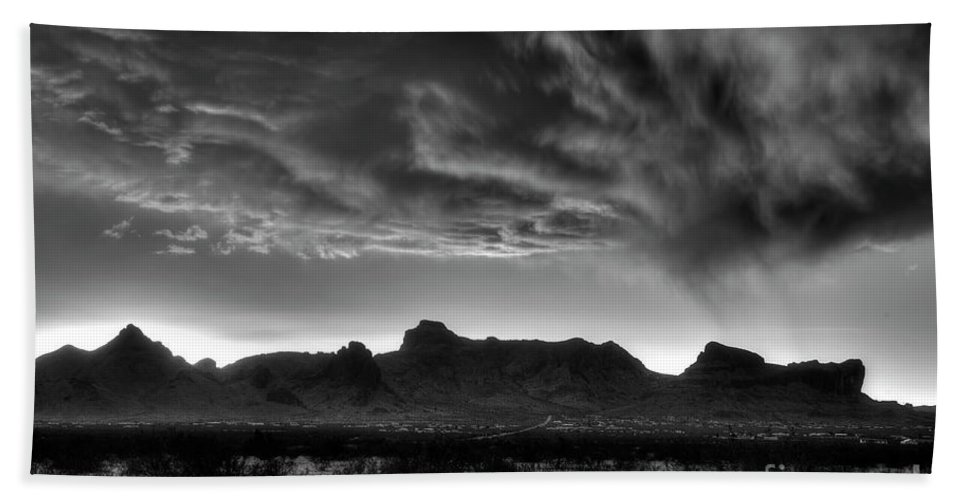 Nature Bath Towel featuring the photograph Snow Clouds by Rick Mann