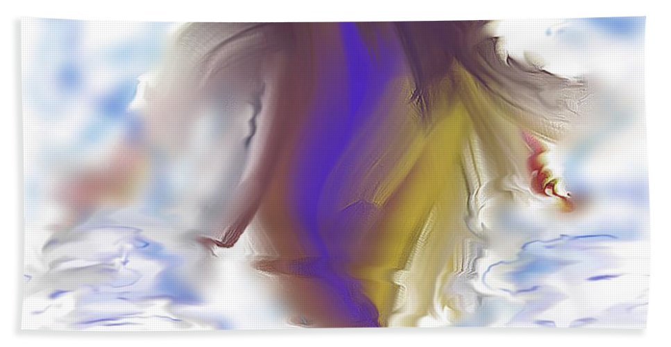 Splash Hand Towel featuring the digital art Splash by Melissa Nay
