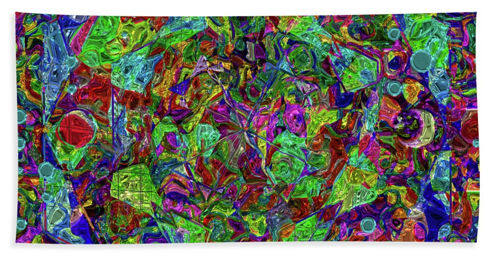 Square Hand Towel featuring the digital art Squareousel by Diane Parnell