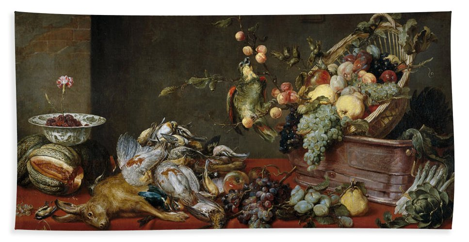 Animal Bath Sheet featuring the painting Still Life by Frans Snyders