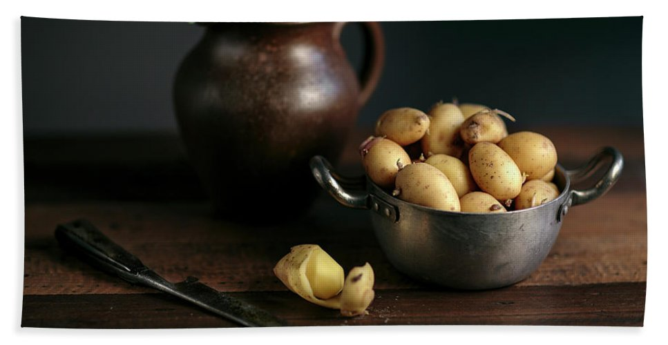 Potato Bath Towel featuring the photograph Still Life With Potatoes by Nailia Schwarz