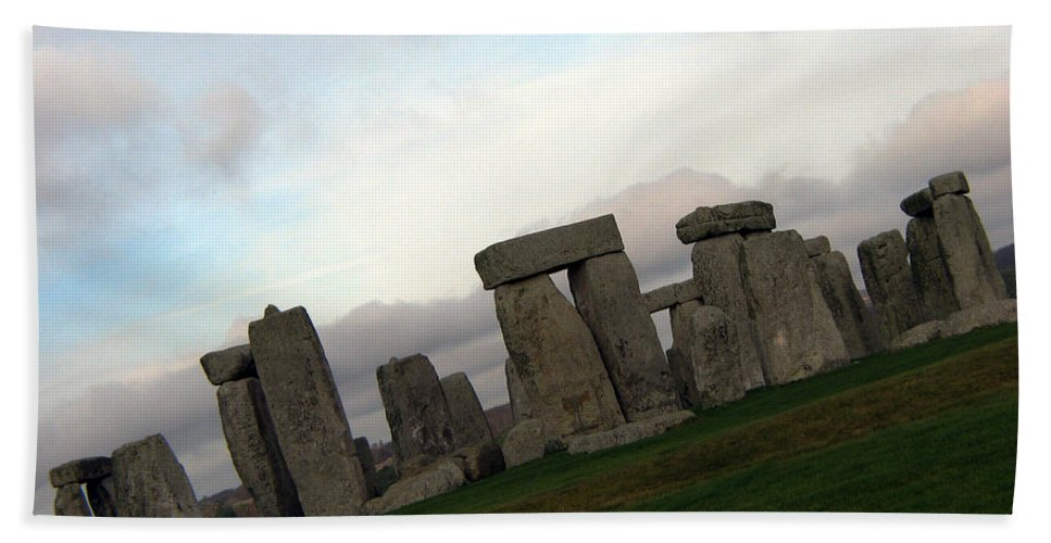 Stonehenge Hand Towel featuring the photograph Stonehenge by Amanda Barcon