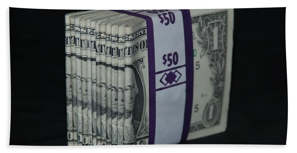 Money Hand Towel featuring the photograph Stripper Stack by Rob Hans