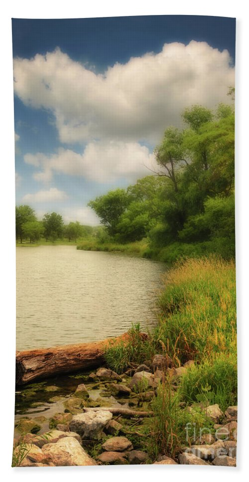 Summer Afternoon Bath Sheet featuring the photograph Summer Afternoon by John Anderson