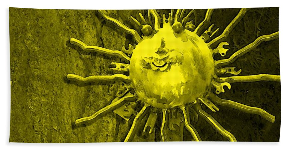 Sun Hand Towel featuring the photograph Sun Tool by Debbi Granruth